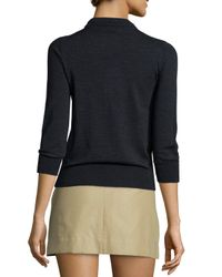 Isabel Marant - Black Merino Wool Crewneck Sweater - Lyst