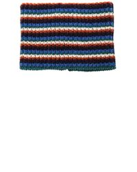 J.W.Anderson | Blue Neck Band With Zip Detail | Lyst