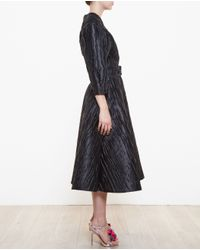 Awake - Black One Shoulder Dress With Sash - Lyst