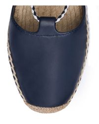 Tory Burch | Blue 20mm Canvas & Patent Leather Espadrilles | Lyst