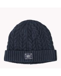 Tommy Hilfiger | Blue Fargo Cable Hat for Men | Lyst