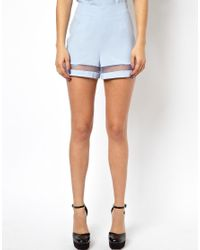 ASOS   Blue Exclusive Shorts with Mesh Insert   Lyst