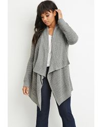 Forever 21 | Gray Plus Size Waffle Knit Cardigan You've Been Added To The Waitlist | Lyst