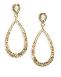 Catherine Stein | Metallic Pave Teardrop Earrings | Lyst