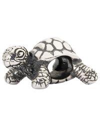 Trollbeads - Metallic African Tortoise Sterling Silver Charm - Lyst