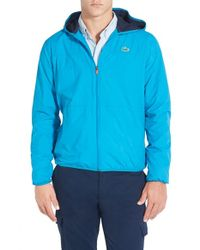 Lacoste | Blue 'sport' Lightweight Ripstop Hooded Jacket for Men | Lyst