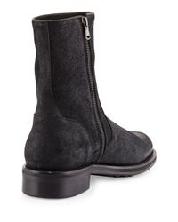 Vince - Black Collin Waxed Leather Boot for Men - Lyst