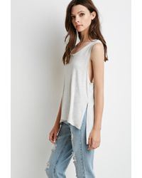 Forever 21 - Gray Side-slit Muscle Tee - Lyst