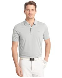 Izod | Gray Island Time Heather Golf Polo for Men | Lyst