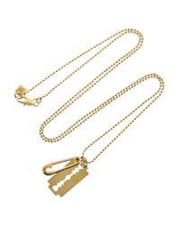 McQ - Metallic Goldtone Pendant Necklace - Lyst