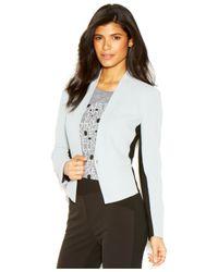 RACHEL Rachel Roy - Gray Long-Sleeve Colorblocked Blazer - Lyst