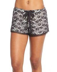 Flora Nikrooz | Black 'snuggle' Lace Shorts | Lyst