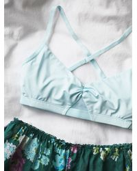 Free People | Green Intimately Womens Twilights Kiss Soft Bra | Lyst