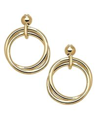 Lord & Taylor | Metallic 14kt. Yellow Gold Circle Drop Earrings | Lyst