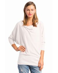 Lamade | Natural 'aidan' Drape Neck Thermal Top | Lyst