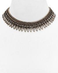 DANNIJO - Metallic Crystal  Chain Spike Necklace 14 - Lyst