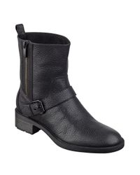 Nine West - Black Hanzil Leather Ankle Boots - Lyst