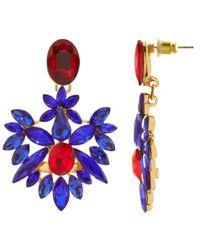 Maiocci Collection - Meras Sleek Blue Handmade Earrings - Lyst