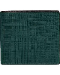 Loewe | Green Bi-fold Leather Wallet for Men | Lyst