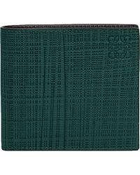 Loewe - Green Bi-fold Leather Wallet for Men - Lyst
