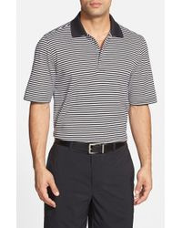 Bobby Jones - Black 'Flag Stripe' Tailored Fit Pima Cotton Golf Polo for Men - Lyst