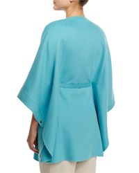 Loro Piana - Blue Margot Cashmere Cape Jacket - Lyst