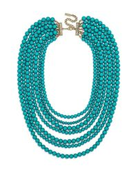 BaubleBar | Blue 'bold' Multistrand Beaded Statement Necklace | Lyst