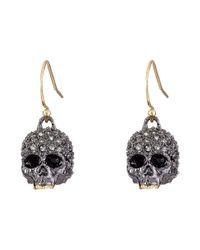 Alexis Bittar | Metallic Petite Encrusted Skull Wire Earrings | Lyst