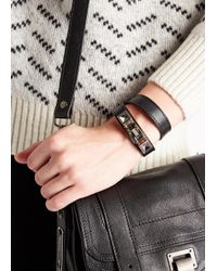 Proenza Schouler | Ps11 Black Leather Bracelet | Lyst