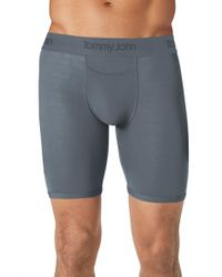 Tommy John | Gray 'second Skin' Boxer Briefs for Men | Lyst