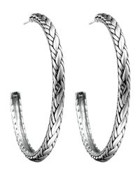 John Hardy | Metallic Classic Chain Kepang Hoop Earrings | Lyst