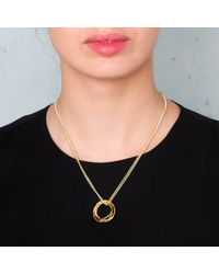Maya Magal | Metallic Five Strand Ring Pendant | Lyst