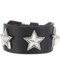 Givenchy - Black Stars Leather Bracelet - Lyst