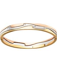 Georg Jensen | Pink Fusion 18Ct Yellow, White And Rose Gold Bangle - For Women | Lyst
