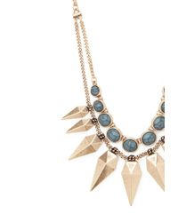 Forever 21 - Metallic Spike Layered Statement Necklace - Lyst