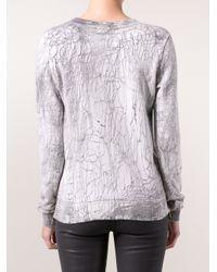 Cotton Citizen - Gray Zip Pullover Sweater - Lyst