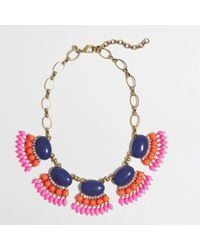 J.Crew - Multicolor Factory Fan Fringe Necklace - Lyst