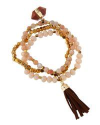 Panacea | Pink Triple-strand Stretch Bracelet | Lyst