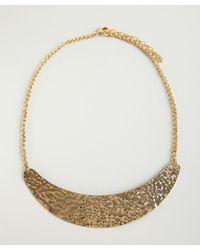 Ben-Amun - Metallic Gold Hammered Crescent Bib Necklace - Lyst