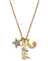 kate spade new york | Metallic 12k Gold-plated Wish Charm Pendant Necklace | Lyst
