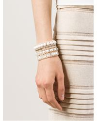 Ziio - White Nil Nacre Multi-Beaded Bracelet - Lyst