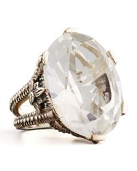 Stephen Dweck - Metallic Oval Rock Crystal Ring - Lyst