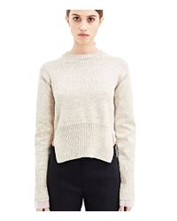 Marni - Natural High Neck Knitted Sweater - Lyst