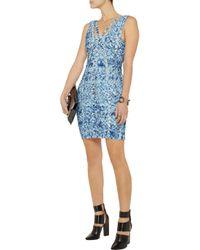 Hervé Léger | Blue Tie-dyed Bandage Dress | Lyst