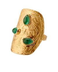 Aurelie Bidermann - Green Amérindienne Emerald & Yellow-Gold Ring - Lyst