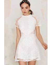 Glamorous | White New Lace On Life Dress | Lyst