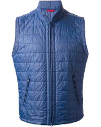 new styles 7e06f a4f42 Fay Padded Gilet in Blue for Men - Lyst