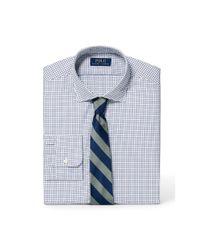 Polo Ralph Lauren | Blue Slim Tattersall Poplin Shirt for Men | Lyst