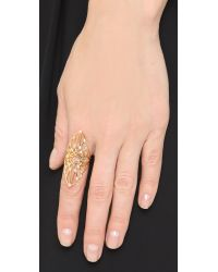 Noir Jewelry | Metallic Planar Ring - Gold/clear | Lyst