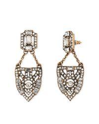 Forever 21 | Metallic Rhinestone-encrusted Drop Earrings | Lyst